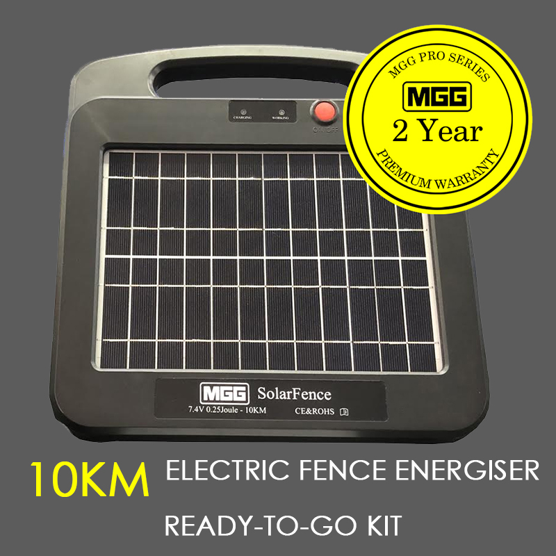 SOLAR ELECTRIC FENCE ENERGISER. HIGH SPEC 10-15 KM LITHIUM #851